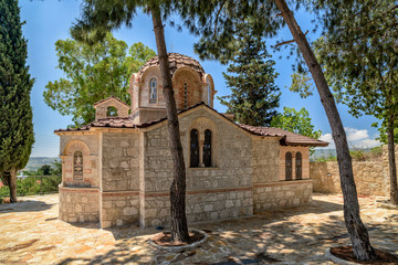 Small church in village on Cyprus