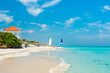 Colorful view of Varadero beach in Cuba