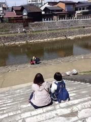 Family moment in Takayama