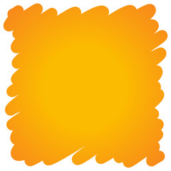 Filled felt pen orange background