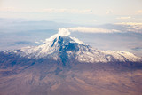 Ararat mountain in Caucasus from airplane window