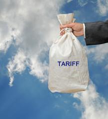 Bag with tariff