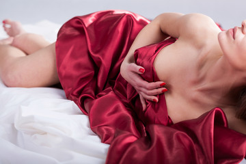 Erotic moments in bed