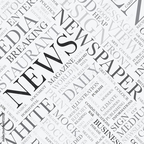 News word tag cloud vector texture background © mpfphotography