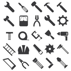mechanical equipment icons set