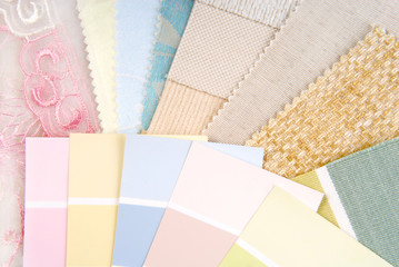pastel color design selection for interior