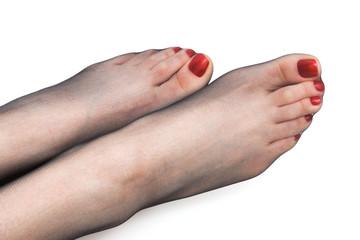 foot in stockings