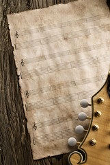 aged blank music sheet