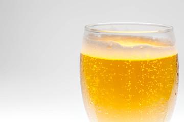 Closeup bubble of beer