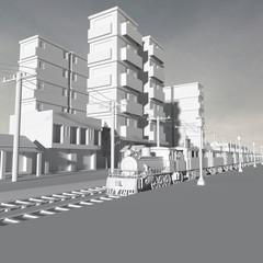 3d buildings.