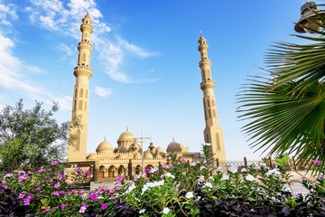 The mosque in the town of Hurghada in Egypt