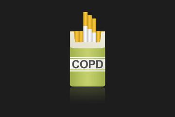Zigarrettenschachtel COPD