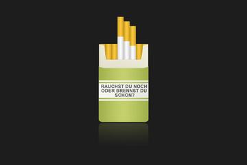 Zigarrettenschachtel Spruch