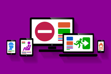 Online safety web design illustration