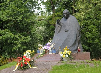 monument of Saint Pope John Paul II in Krakow