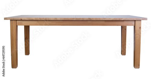 Leinwandbild Motiv Wooden table isolated on white background