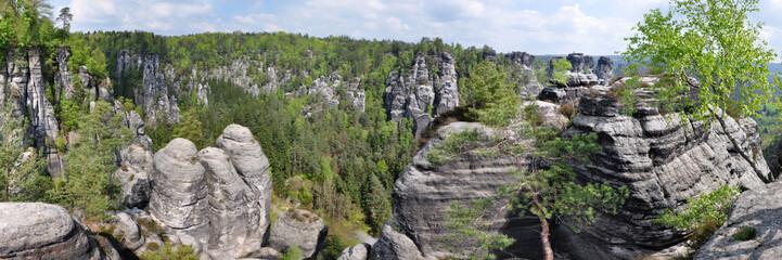 Panoramafoto Elbsandsteingebirge