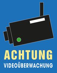 Achtung Videoüberwachung, Symbol