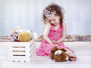Little girl with diadem
