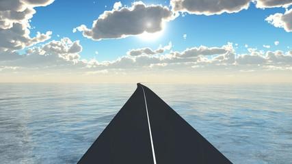 route sur la mer