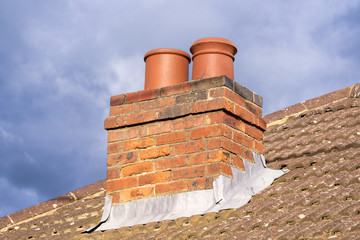 Chimney on Roof of House