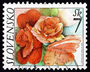 Postage stamp Slovakia 2003 Rose Flowers