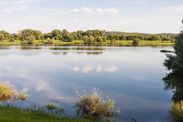 Fluss Oder zwischen , River Oder between Germany and Poland