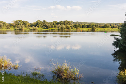 Photo fluss oder zwischen river oder between germany and poland