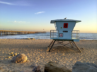Lifeguard Booth at Ventura Beach, CA