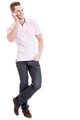 Student beim Telefonieren
