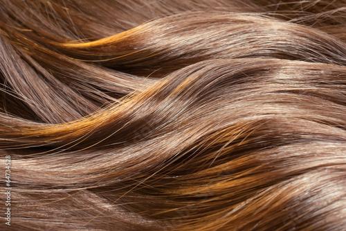 Leinwandbild Motiv Beautiful healthy shiny hair texture with highlighted streaks