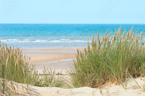 Sand beach in Formby, UK - 64734781
