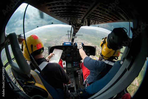 Hubschrauberpilot Rettungshubschrauber Cockpit