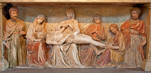 Verona - Jesus in the tomb from San Fermo Maggiore