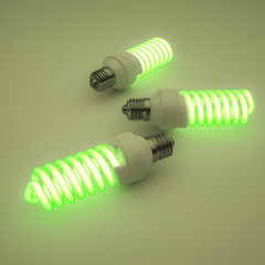 Green fluorescent lights