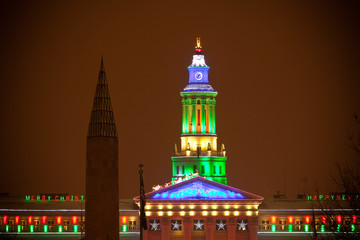 Denver's City and County Building, Night