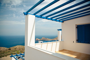 Modern Greek House with view of the Sea - Syros, Greece