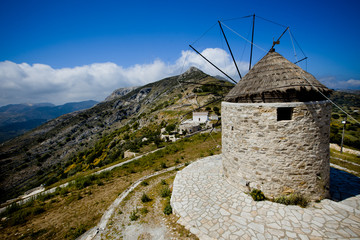 Vintage Windmill - Naxos, Greece
