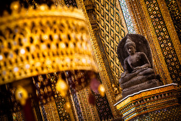 Stone Buddha at Grand Palace - Bangkok, Thailand