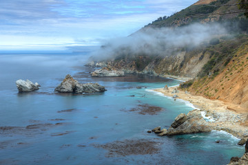 Cliffs next to McWay Falls - Big Sur State Park, California, USA