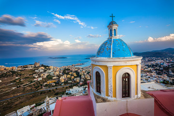 View from Basilica San Giorgio - Ano Syros, Greece