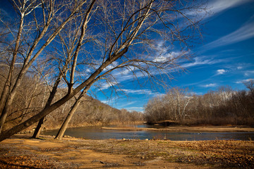 Meramec River in Winter, Missouri, USA