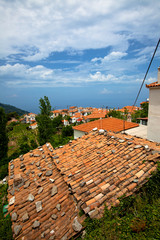 Greek Orange Tile Rooftops