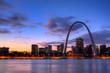 Leinwanddruck Bild - View of the Gateway Arch - St Louis, Missouri