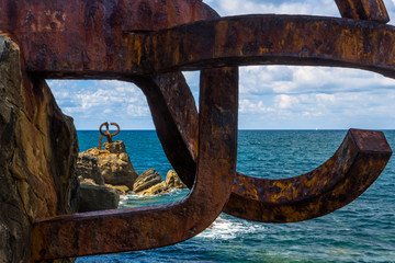 Sculpture (Comb Of The Wind by Chillida) in San Sebastian