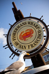 Fishermans Wharf Sign - San Francisco, California USA