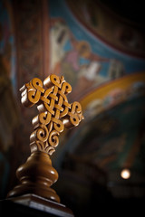 Cross Greek Orthodox Church Interior - Naxos