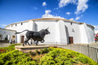 Leinwanddruck Bild - Spains oldest bullring built in 1785, Ronda, Malaga Province
