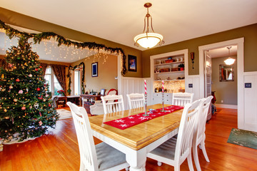 House interior on Christmas eve
