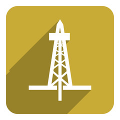 oil and gas flat icon